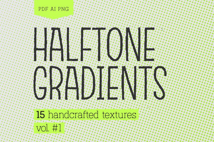 Thumbnail for Halftone Gradients #1 Texture Pack
