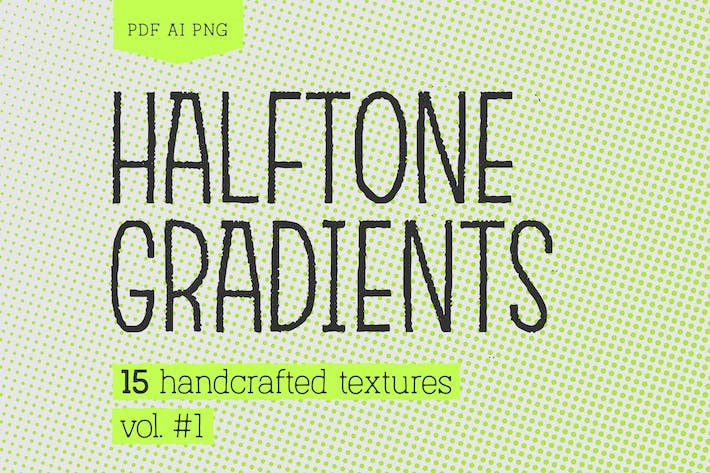 Halftone Gradients #1 Texture Pack