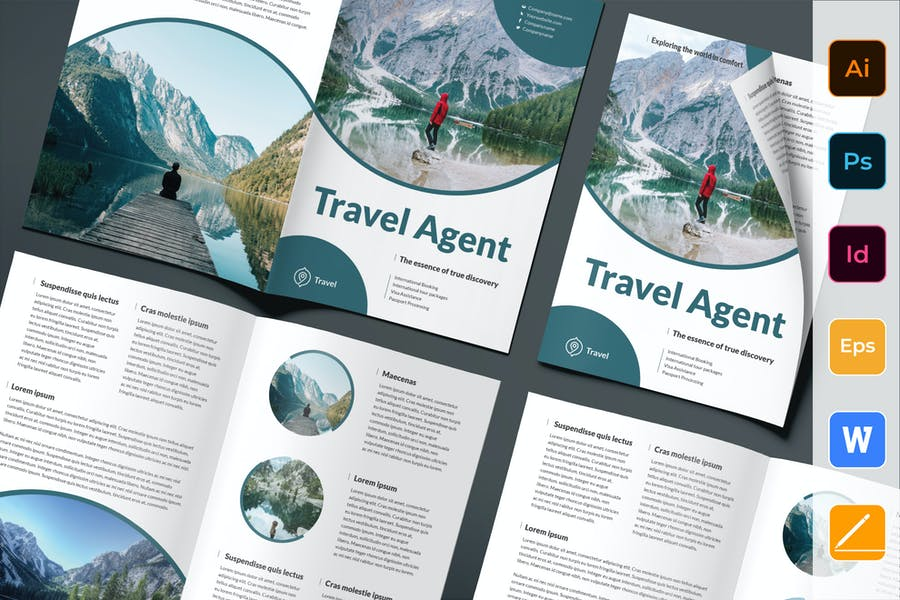 Travel Agent Agency Brochure Bifold