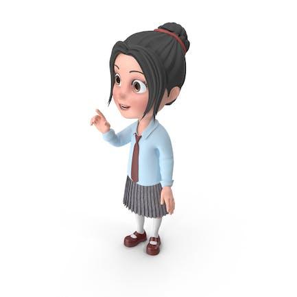 Cartoon Mädchen Emma sprechen