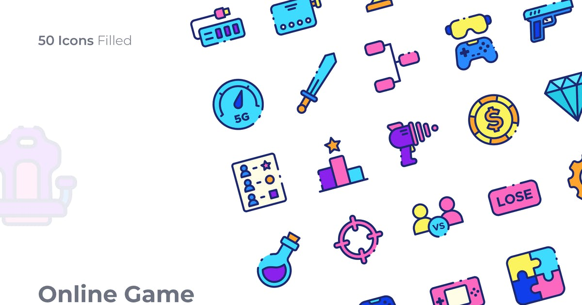 Download Online Game Filled Icon by GoodWare_Std
