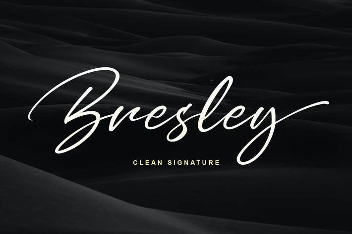 Thumbnail for Bresley Signature Font