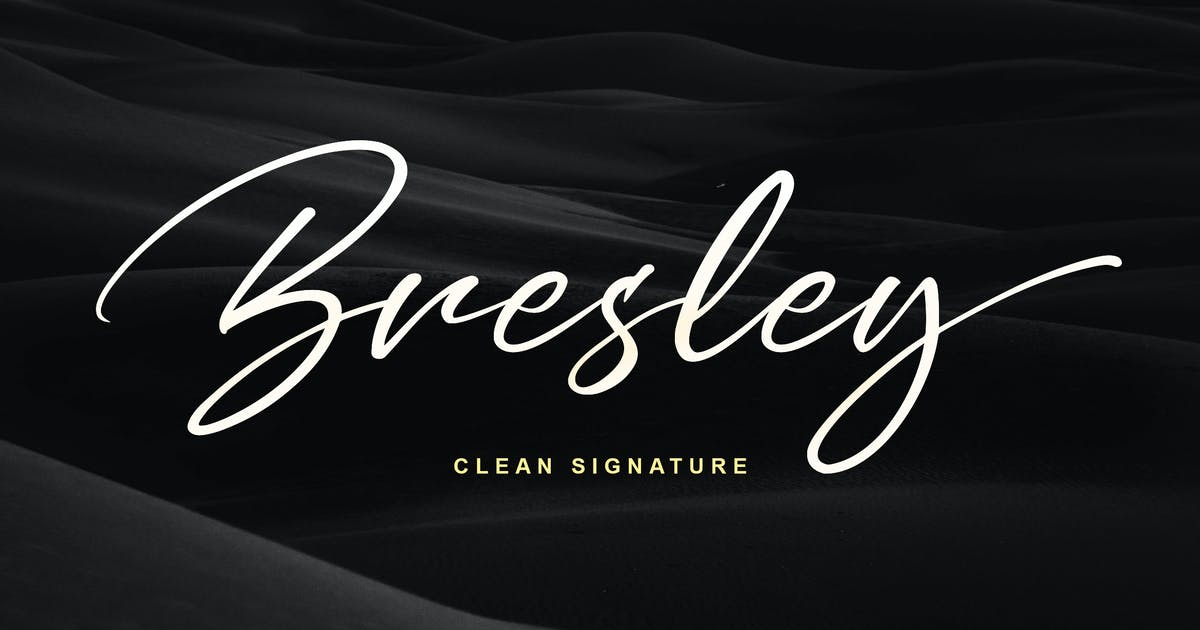 Bresley Signature Font by Blankids