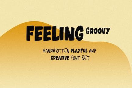Feeling Groovy - Fuente juguetona manuscrita