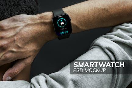 Smartwatch psd screen mockup wearable technology