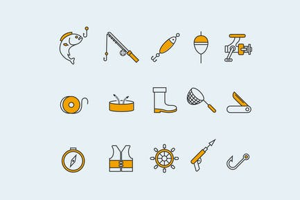 15 Fishing Icons