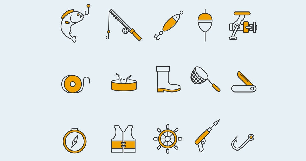 Download 15 Fishing Icons by creativevip