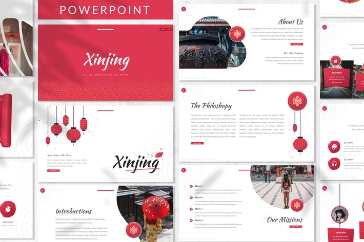 Thumbnail for Xinjing - Oriental Powerpoint Template