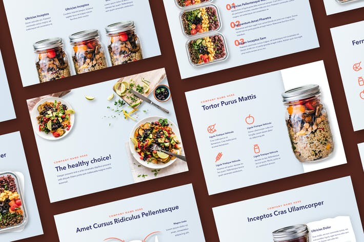 Thumbnail for Nutritious Keynote Template