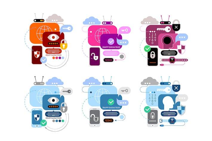 Thumbnail for 6 Diseños de Banner del Servicio de Seguridad Cibernética