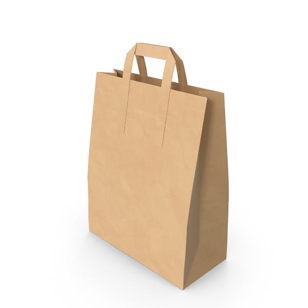 Grocery Bag with Paper Handle Mockup