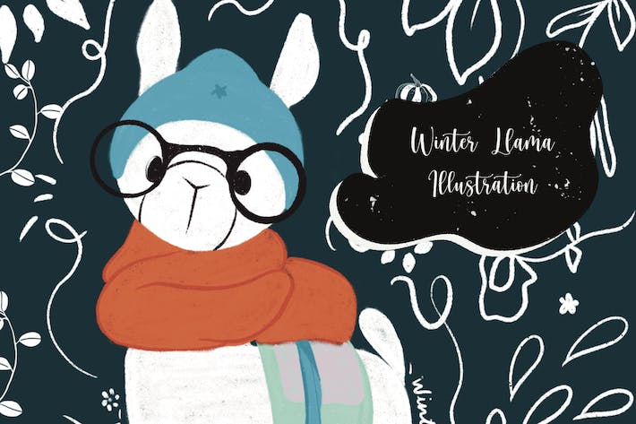 Thumbnail for Illustration - Winter Llama