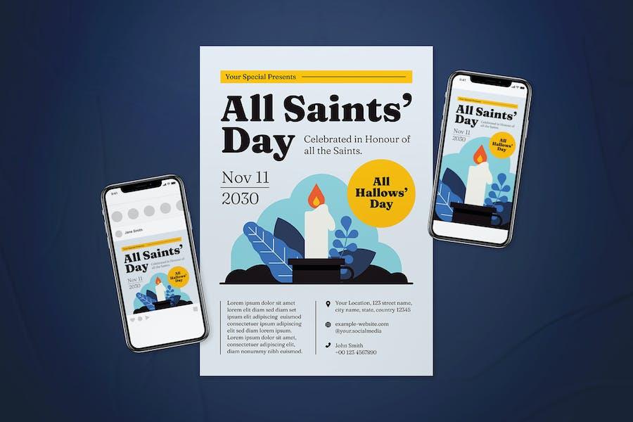 All Saints' Day Flyer Set