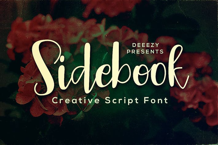 Thumbnail for Sidebook Script Font