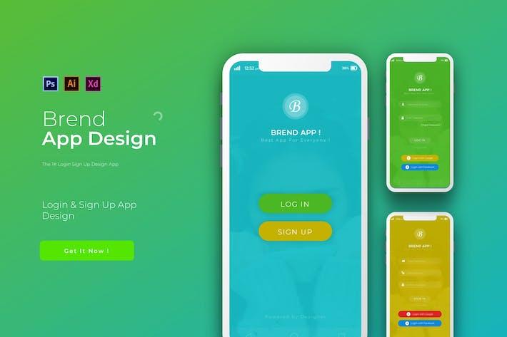 Thumbnail for Brend Login | App Design Template