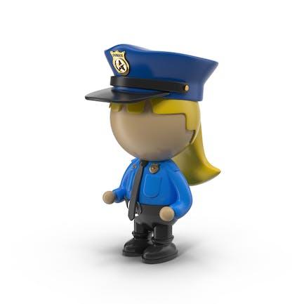 Cartoon Female Police Officer