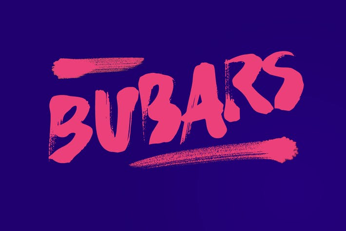 Thumbnail for bubarz brush font