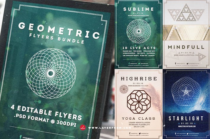 Thumbnail for Geometric Flyers Bundle