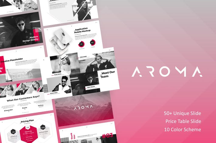 Thumbnail for AROMA - Modern Business Presentation Template