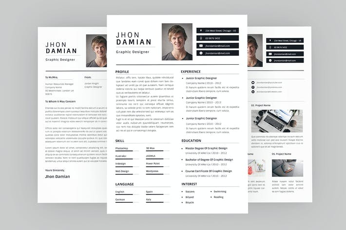 Thumbnail for Jhon Graphic Resume Designer