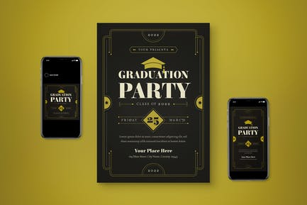 Graduation Day Flyer Set