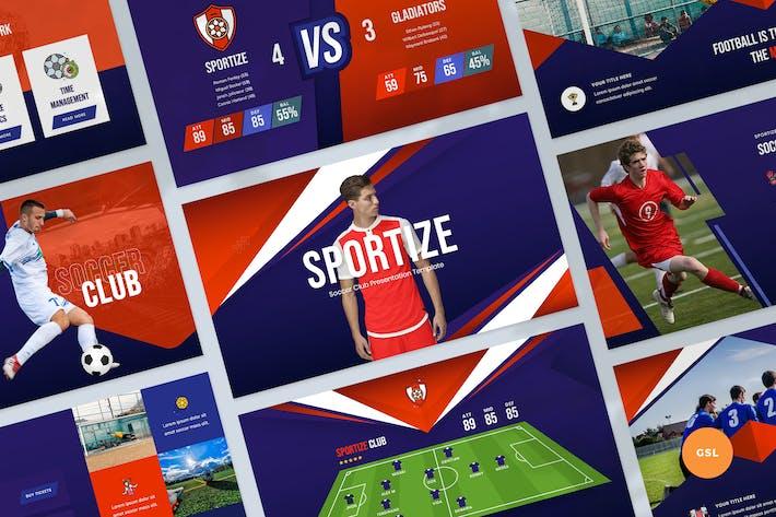 Футбольный клуб и спортивные слайды Шаблон