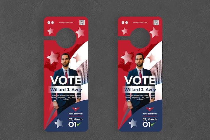 Election / Politic Door Hanger Creative Promotion