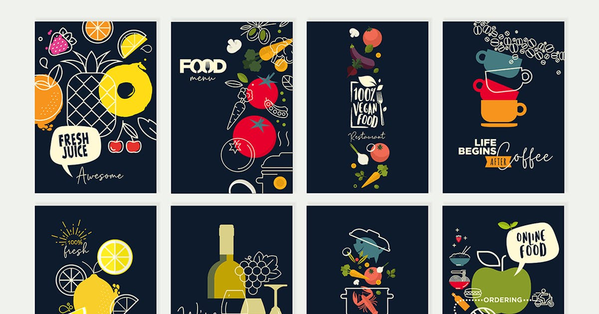 Download Set of menu and brochure design templates by PureSolution