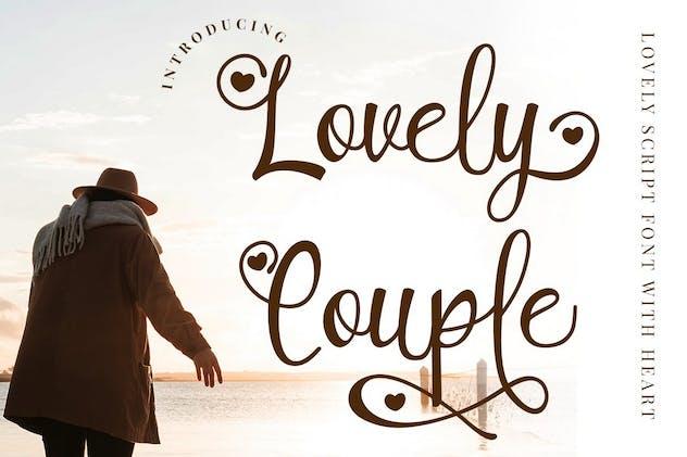 Lovely Couple - Romantic Script Font - product preview 11