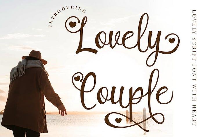 Thumbnail for Pareja encantadora - Fuente de escritura romántica