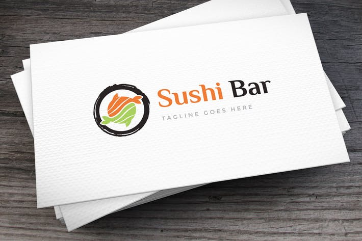 Thumbnail for Sushi Bar Logo Template