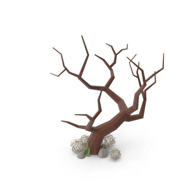 Bare Tree and Tumbleweed