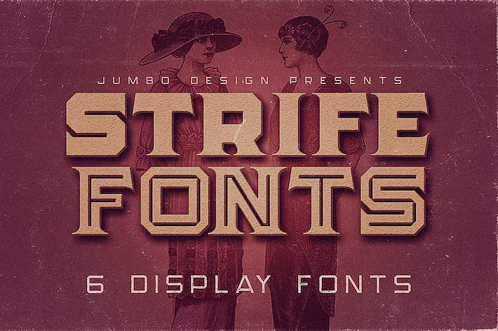 Thumbnail for Strife - Display Font