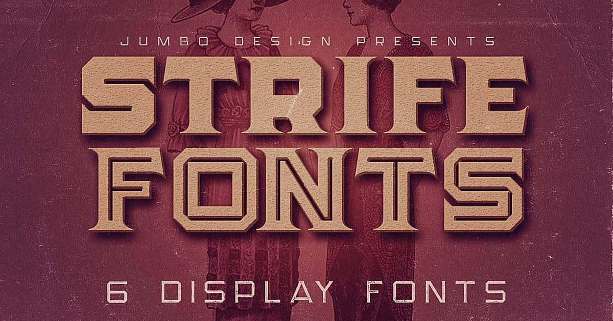 Download Strife - Display Font by cruzine