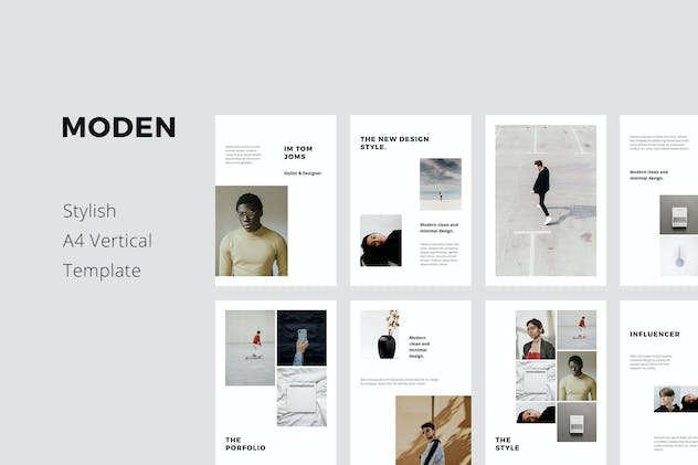 MODEN - A4 Vertical Keynote Style Template