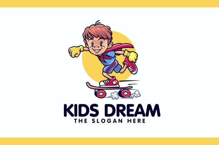 Kids Dream Character Mascot Logo