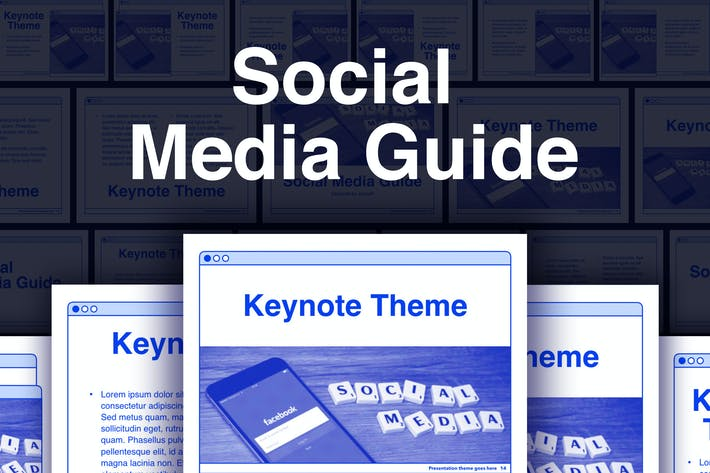 Thumbnail for Social Media Guide Keynote Template