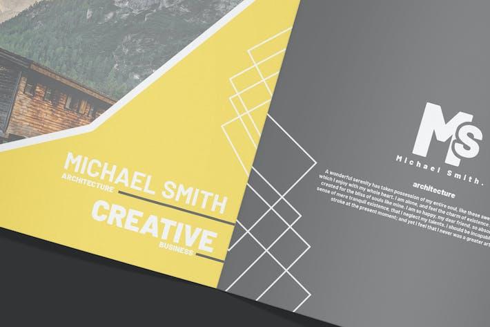 Thumbnail for Elegant Square Brochure - Mockup