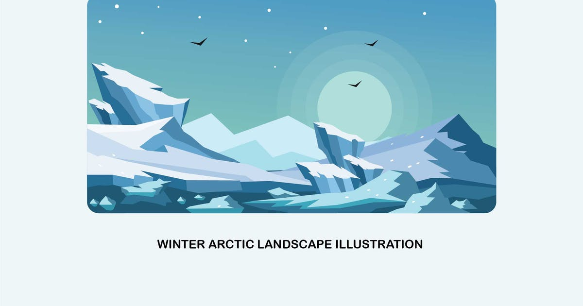 Download Winter Arctic Landscape Vector Illustration by IanMikraz