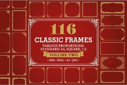 Conjunto marcos y bordes decorativos #2, 116 Elements