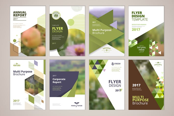 Thumbnail for Natural and organic products brochure templates