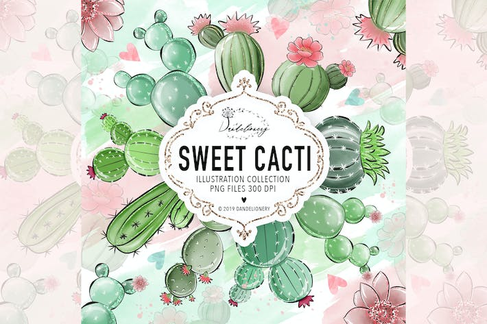 Thumbnail for Sweet Cactus Clipart