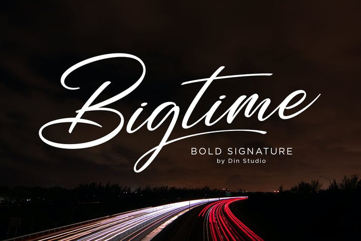 Thumbnail for Bigtime - Signature Font