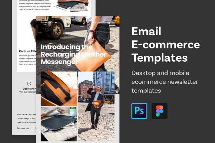 Thumbnail for Email E-commerce Templates (Product Launch)