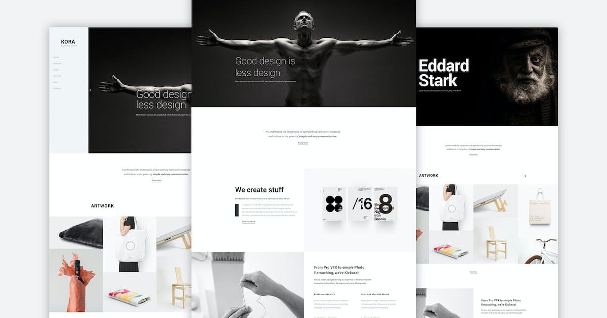 Kora - Portfolio Template for Agency & Freelancers by M_Adnan