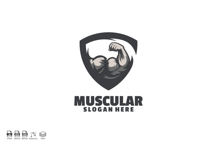 Thumbnail for muscular logo template
