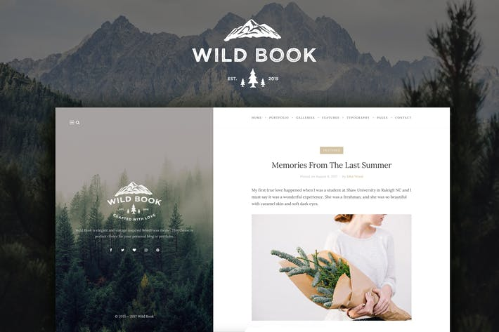 Thumbnail for Wild Book - Vintage Blog & Portfolio Thema