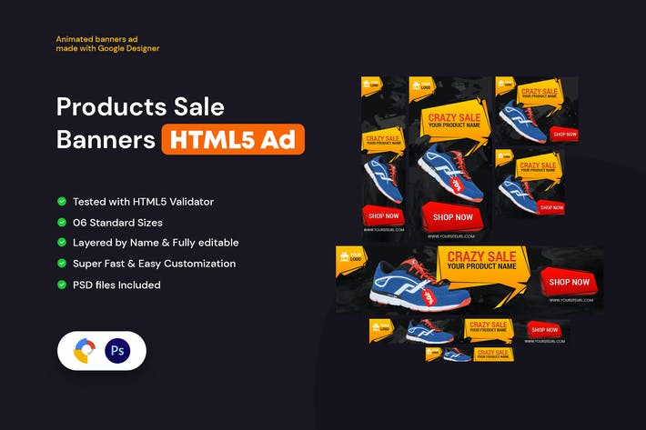 Product Sale Banners HTML5 Ad