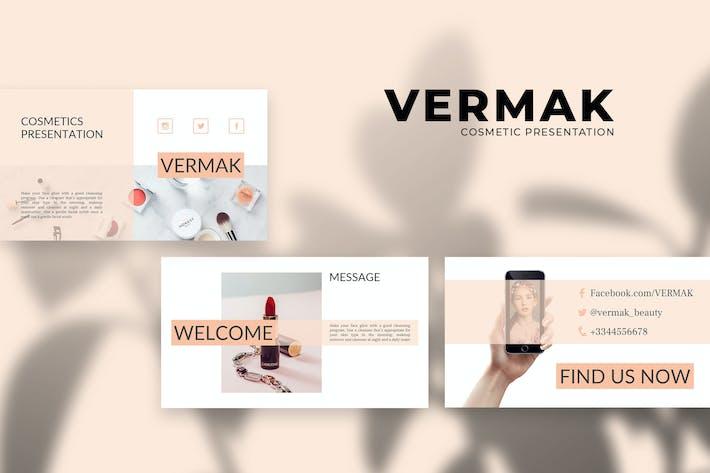 Thumbnail for Vermak - Cosmetics PowerPoint Presentation
