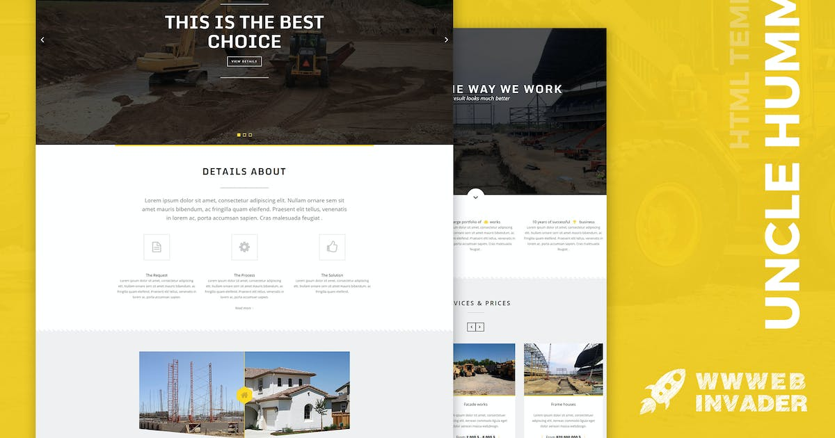 Uncle Hummer - Responsive HTML Building Template by wwwebinvader